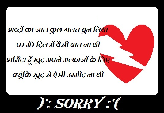 Sorry Hindi Shayari For Boyfriends