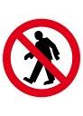 पैदल व्यक्ति वर्जित