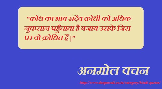 Anger Quotes in Hindi