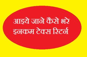 Income tax Return online in hindi