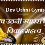 देव उठनी एकादशी प्रबोधनी ग्यारस तुलसी विवाह महत्व एवम पूजा विधि | Dev Uthani Gyaras Prabodhini Ekadashi Tulsi Vivah Katha Mahtva In Hindi