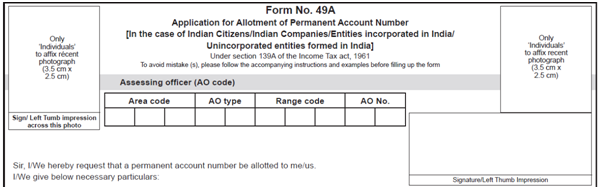 Form 49 A