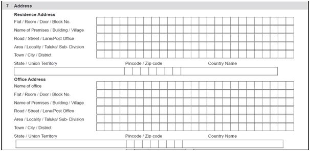 HUF PAN Card form detail
