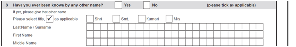 Hindu Undivided Family Form