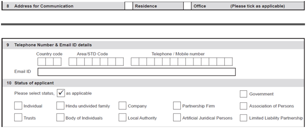 Huf pan card Address