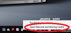 network connection window