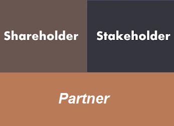 Partner Stakeholder Shareholder