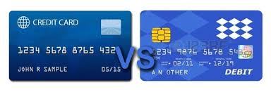 diffrence Credit Debit Card