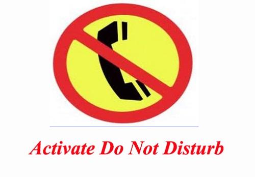 activate do-not-disturb