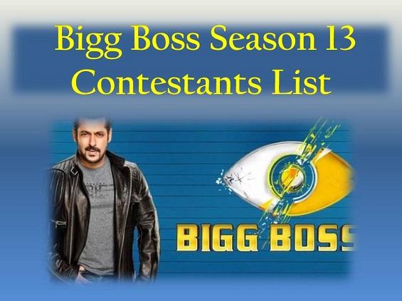 Bigg boss season 13 Contestants