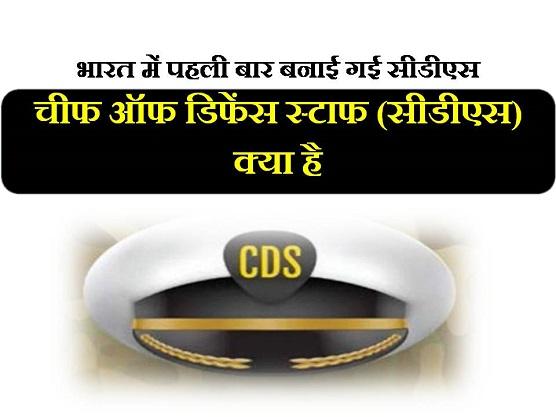 Chief Defence Staff CDS hindi