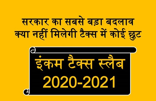 Income Tax Slab for AY 2020-21 In Hindi