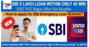 SBI Emergency Loan Scheme 45 minutes hindi