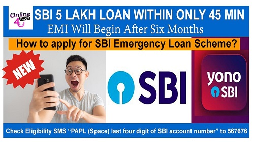 SBI Emergency Loan Scheme 45 minutes hindi